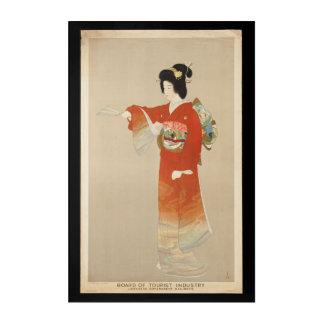 Vintage Japan Tourist Travel with Geisha Acrylic Print