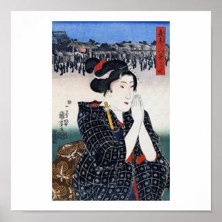 Vintage Japanese Art  1800's Posters