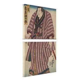 Vintage Japanese Art Image - Sumo Wrestler Canvas Print