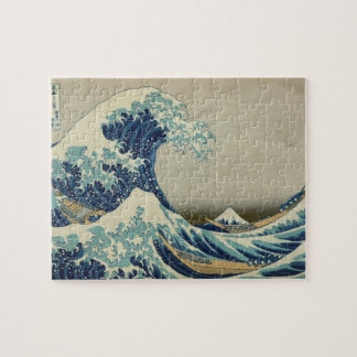 Vintage Japanese Art, The Great Wave by Hokusai Puzzle