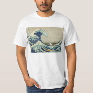 Vintage Japanese Art, The Great Wave by Hokusai T-Shirt