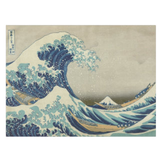 Vintage Japanese Art, The Great Wave by Hokusai Tablecloth
