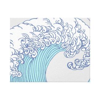 Vintage Japanese Artwork Print Wave Design