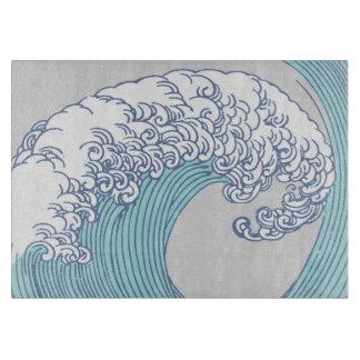 Vintage Japanese Artwork Print Wave Design Boards