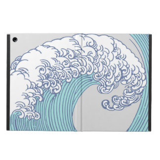 Vintage Japanese Artwork Print Wave Design Case For iPad Air
