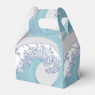 Vintage Japanese Artwork Print Wave Design Favor Box