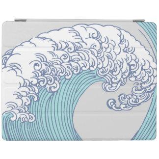 Vintage Japanese Artwork Print Wave Design iPad Cover