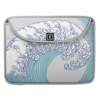 Vintage Japanese Artwork Print Wave Design MacBook Pro Sleeves