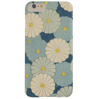 Vintage Japanese Blue Floral Barely There iPhone 6 Plus Case