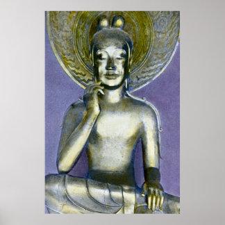 Vintage Japanese Buddha Bodhisattva Kannon Poster