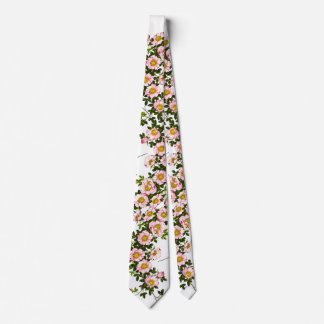 Vintage Japanese Cherry Blossoms, Pink and Gold Tie