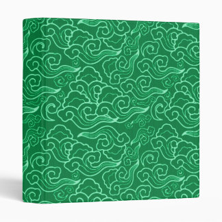 Vintage Japanese Clouds, Jade Green Binder