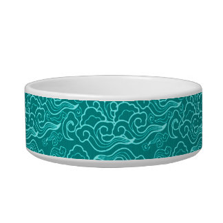 Vintage Japanese Clouds, Turquoise and Aqua Bowl