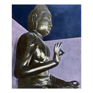 Vintage Japanese Daibutsu Buddha Poster
