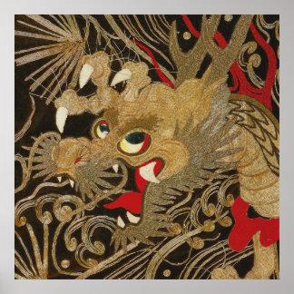 Vintage Japanese Dragon Poster