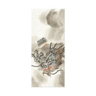 Vintage Japanese Dragon Warrior Canvas Print
