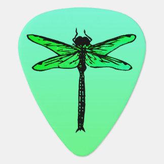 Vintage Japanese Dragonfly, emerald green Guitar Pick