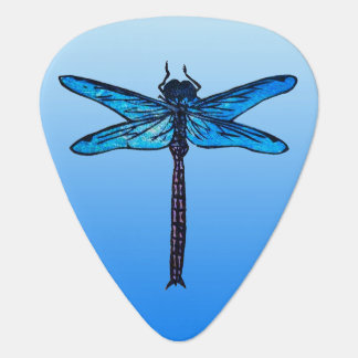 Vintage Japanese Dragonfly, sapphire blue Pick