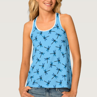 Vintage Japanese Dragonfly, sapphire blue Tank Top