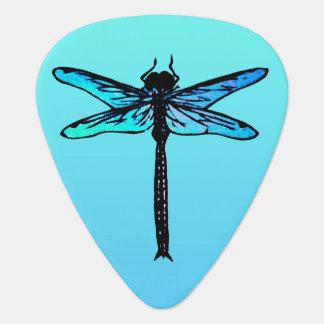 Vintage Japanese Dragonfly, turquoise blue Pick