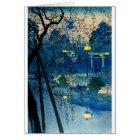 Vintage Japanese Evening in Blue Card