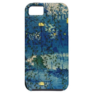 Vintage Japanese Evening in Blue iPhone 5 Case