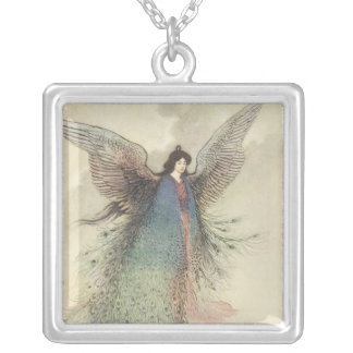 Vintage Japanese Fairy, Moon Maiden, Warwick Goble Necklaces