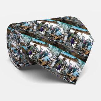 Vintage Japanese Families in the Market  Old Japan Tie