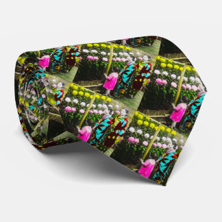Vintage Japanese Family at Chrysanthemum Show Tie