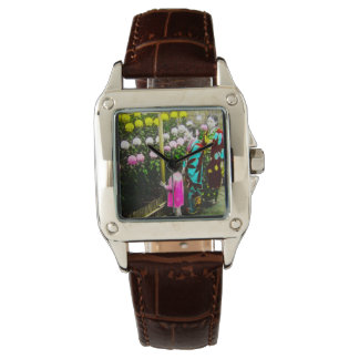 Vintage Japanese Family at Chrysanthemum Show Watches