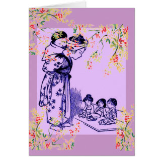 Vintage Japanese Fashions Card