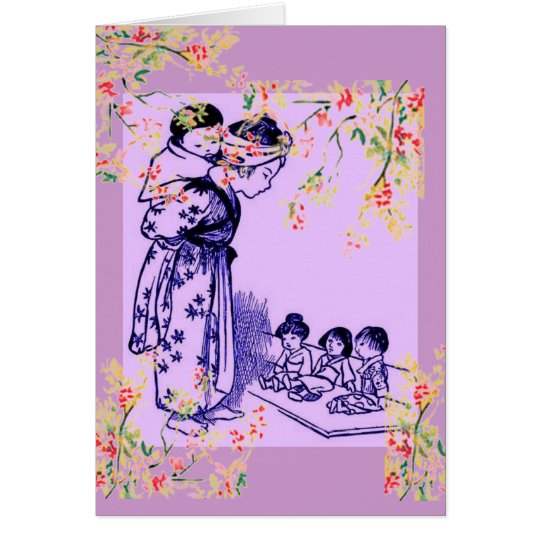 Vintage Japanese Fashions Card