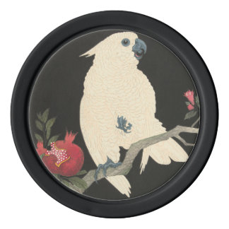 Vintage Japanese Fine Art | Cockatoo Poker Chips