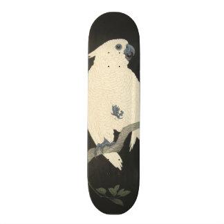 Vintage Japanese Fine Art Cockatoo Skateboard Deck
