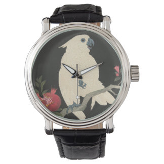 Vintage Japanese Fine Art | Cockatoo Watch