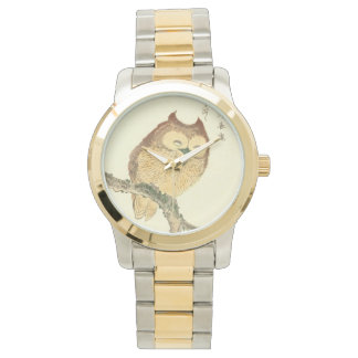 Vintage Japanese Fine Art | Cute Owl Watch
