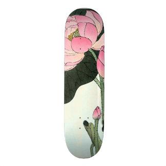 Vintage Japanese Fine Art | Lotus Flower Skate Boards