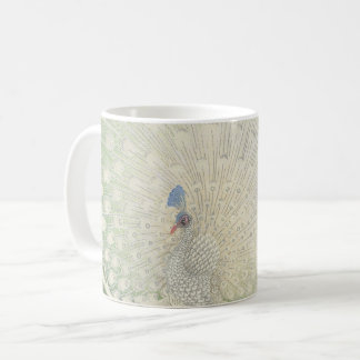 Vintage Japanese Fine Art | Peacock Coffee Mug