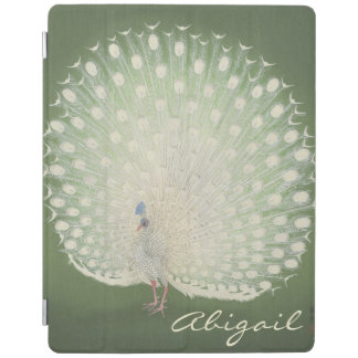 Vintage Japanese Fine Art   Peacock Personalized iPad Cover