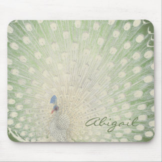 Vintage Japanese Fine Art | Peacock Personalized Mouse Pad