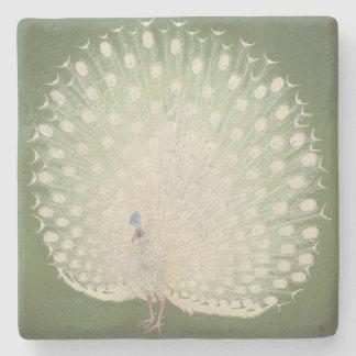Vintage Japanese Fine Art | Peacock Stone Coaster