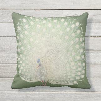 Vintage Japanese Fine Art | Peacock Throw Pillow