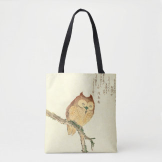 Vintage Japanese Fine Art Print | Owl on a Branch Tote Bag