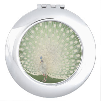 Vintage Japanese Fine Art | White Peacock Makeup Mirrors