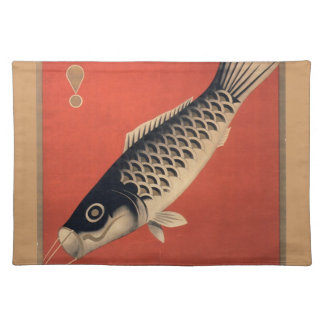 Vintage Japanese fish placemat