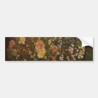 Vintage Japanese Flowers and Insects Bumper Sticker