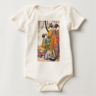 Vintage Japanese Geisha Artwork Baby Bodysuit