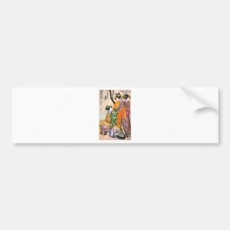 Vintage Japanese Geisha Artwork Bumper Sticker