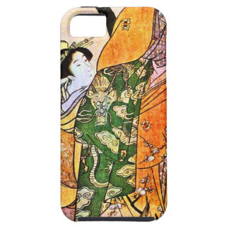 Vintage Japanese Geisha Artwork Case For The iPhone 5