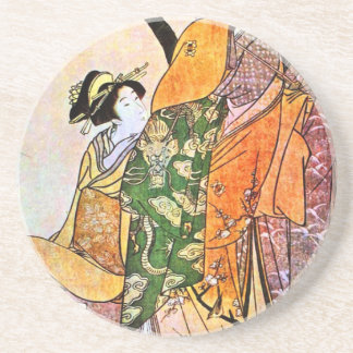 Vintage Japanese Geisha Artwork Coaster